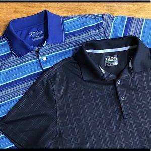 TWO Men's Golf Shirts Size M